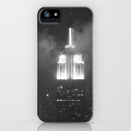 Gotham city in black and white iPhone Case
