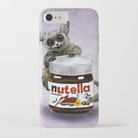 nutella iPhone & iPod Cases featuring Sweet aim // galago and nutella by Anna Shell