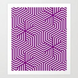 Patriarch - violet - Minimal Vector Seamless Pattern Art Print