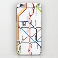 fandom iPhone & iPod Skins featuring Fandom Underground by Raccoon Illustrations