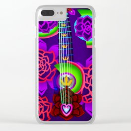 Fusion Keyblade Guitar #168 - Overdrive & Divine Rose Clear iPhone Case