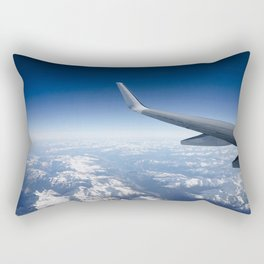 Flying over the Alps Rectangular Pillow