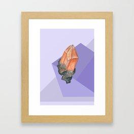 Geometric Topaz Framed Art Print