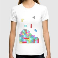 tetris T-shirts featuring Tetris by #dancingpenguin