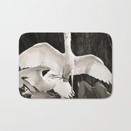 White bird dance 2 Bath Mat