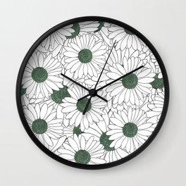 Daisy Mint Wall Clock