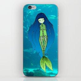 Mermaid Skeleton iPhone Skin