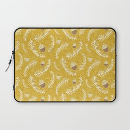 Holiday Floral Acorn Gold #Holiday #Christmas Laptop Sleeve