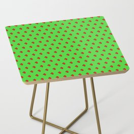Strawberry Green - Posterized Side Table