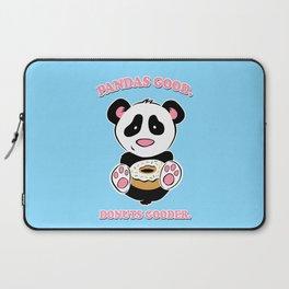 Pandas Good. Donuts Gooder. Laptop Sleeve