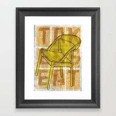 Come On In...Take A Yellow Seat Framed Art Print
