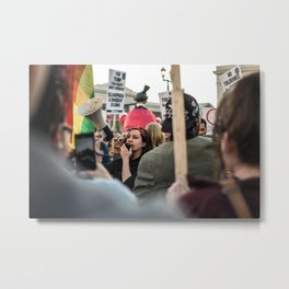 Trump Campaign Protests Metal Print