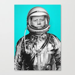 """JFK ASTRONAUT (or """"All Systems Are JFK"""") Canvas Print"""