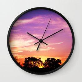 East Texas Sunset Wall Clock