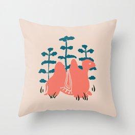 Mongolian Camel Throw Pillow