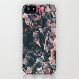 hydrangea - moody blues iPhone Case