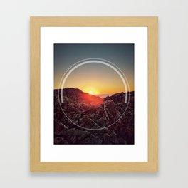 Peel Sunset Framed Art Print