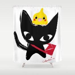 Yeux Du Chat Noir Shower Curtain