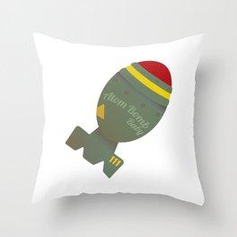 Atom Bomb Baby Throw Pillow