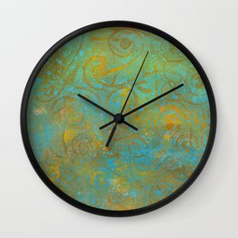 Gelatin Monoprint 21 Wall Clock