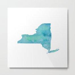 Watercolor New York Metal Print
