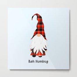 Bah Humbug, Funny Cute Gnome Metal Print