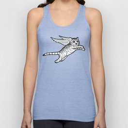 A flying cat Unisex Tank Top