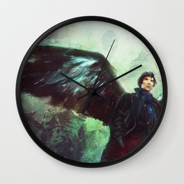 The Winged Detective Wall Clock
