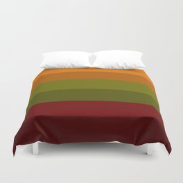 Cool Autumn Leaves - Color Therapy Duvet Cover