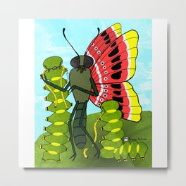 A Butterflys Metamorphosis Metal Print