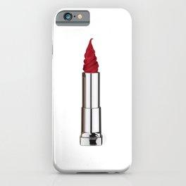 Lipstick-icecream iPhone Case