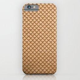 Golden Mermaid Leather Print iPhone Case