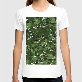 Leaf Green Popular Multi Camo Pattern T-shirt