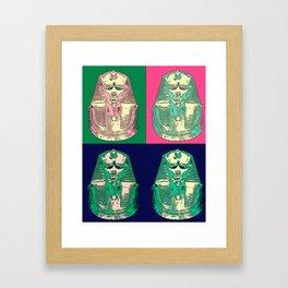 King Tut Goes to A Rave Framed Art Print