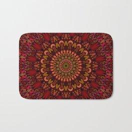Bohemian Geometric Flower Mandala Bath Mat