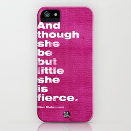 Little and Fierce - Pink iPhone Case