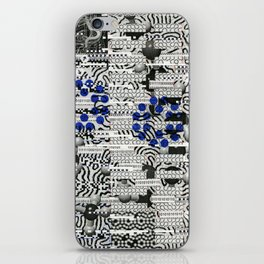 Nagging Little Virtual Elements (P/D3 Glitch Collage Studies) iPhone Skin