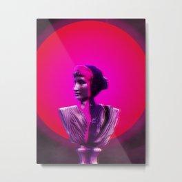 Vaporwave Glow Metal Print