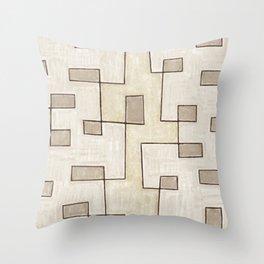 "Proto pattern n 1 ""toffee cake"" Throw Pillow"