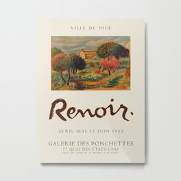 Exhibition poster of the work of Renoir. Ponchettes Gallery, 1952. Metal Print