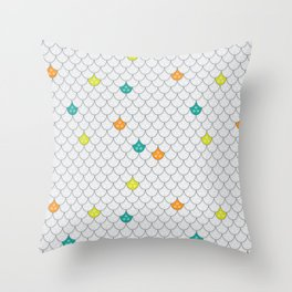 A Scaley One. Throw Pillow
