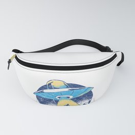 Funny Alien Abduction UFO graphic - Vintage Space Gift Fanny Pack