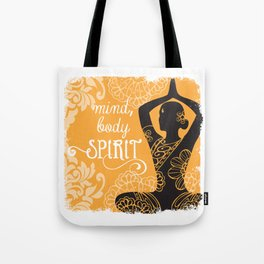 Mind, Body, Spirit Tote Bag