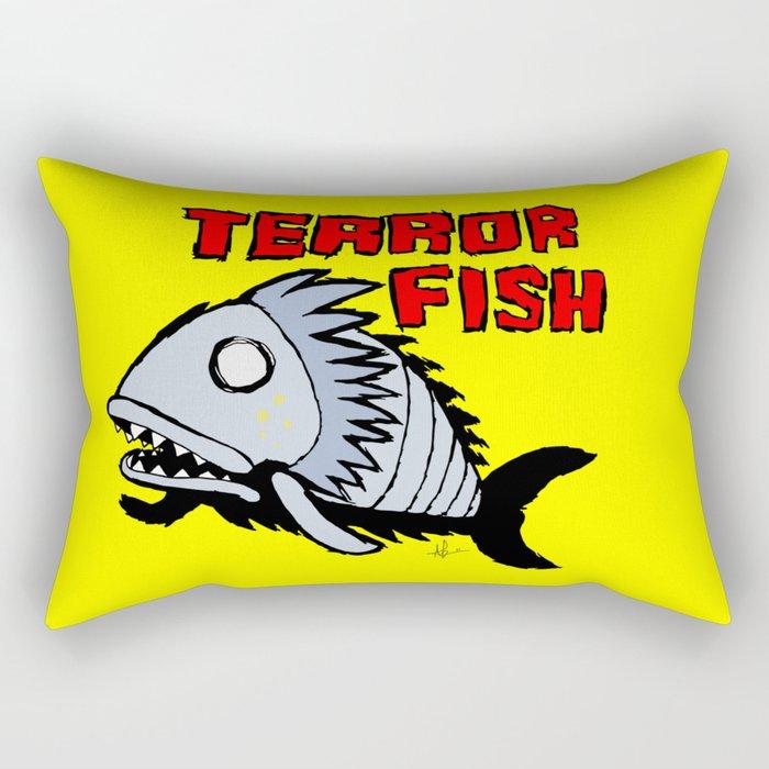 Terror fish Rectangular Pillow