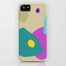 Colourful Shapes Abstract Art Work iPhone Case