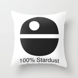 100% Stardust Throw Pillow