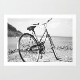 Beached Bike Art Print