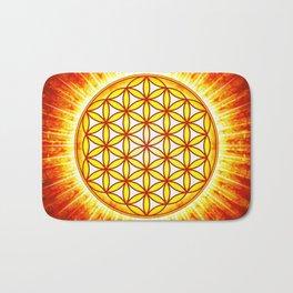 Flower Of Live Sun III Bath Mat