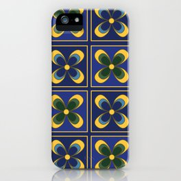 French Limoges Enamel Flowers Two iPhone Case