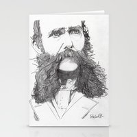 moustache Stationery Cards featuring Moustache by Paul Nelson-Esch Art